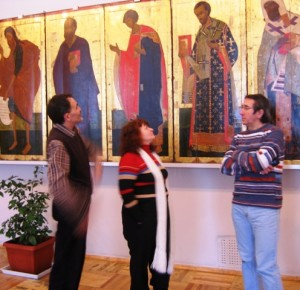 Ольга с друзьями. Эмир Бурганов, Михаил Щетинин