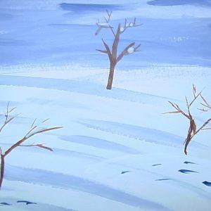 Лось на зимней прогулке. рисунок моего внука Никитки. 08.12.2016г.